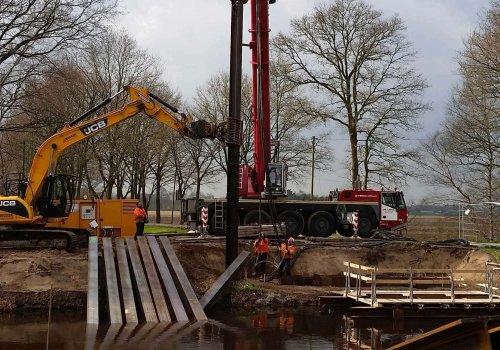Neubau der Brücke Westerfeld über den Piccardie-Coevorden-Kanal